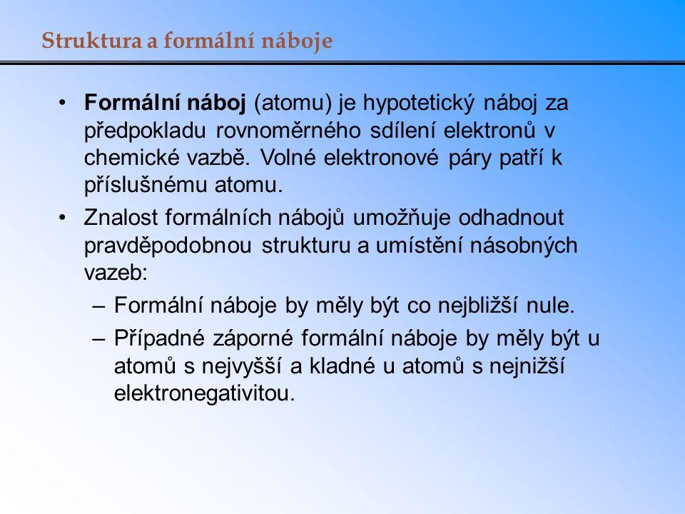 Struktura a formální náboje