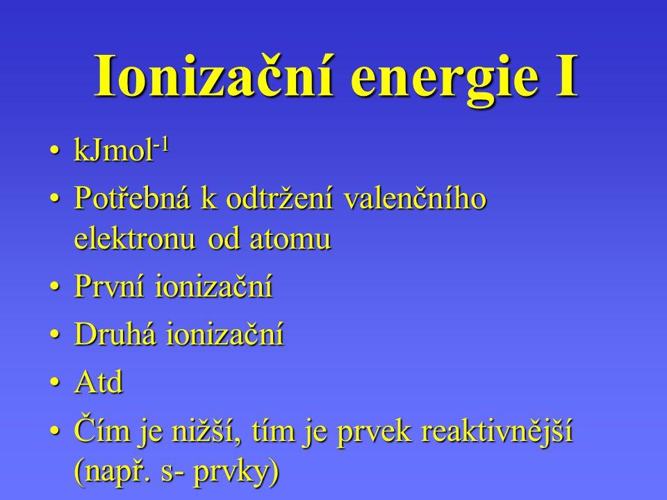 Ionizační energie I kJmol-1