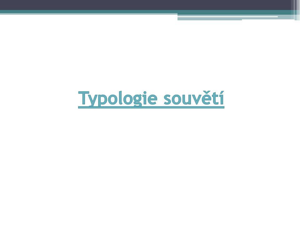 Typologie souvětí