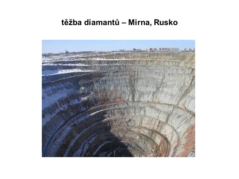 těžba diamantů – Mirna, Rusko