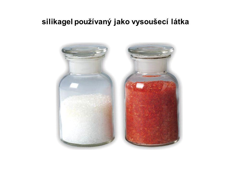 silikagel používaný jako vysoušecí látka