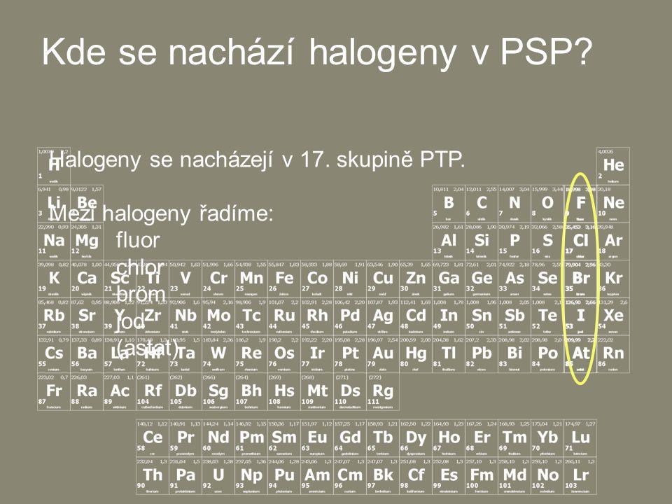 Kde se nachází halogeny v PSP