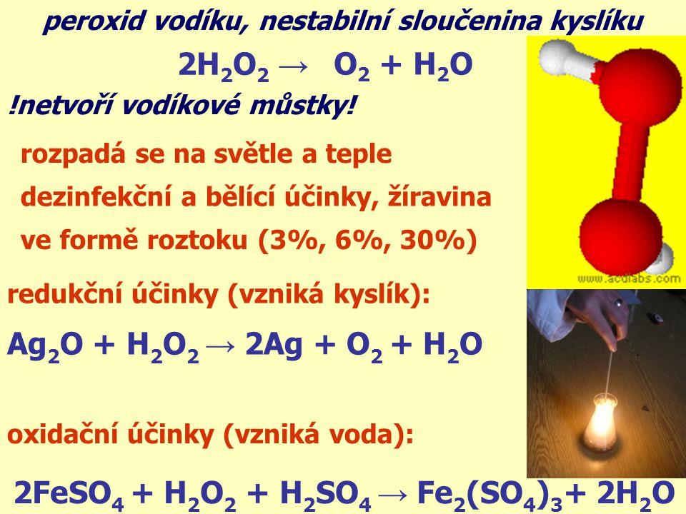2FeSO4 + H2O2 + H2SO4 → Fe2(SO4)3+ 2H2O