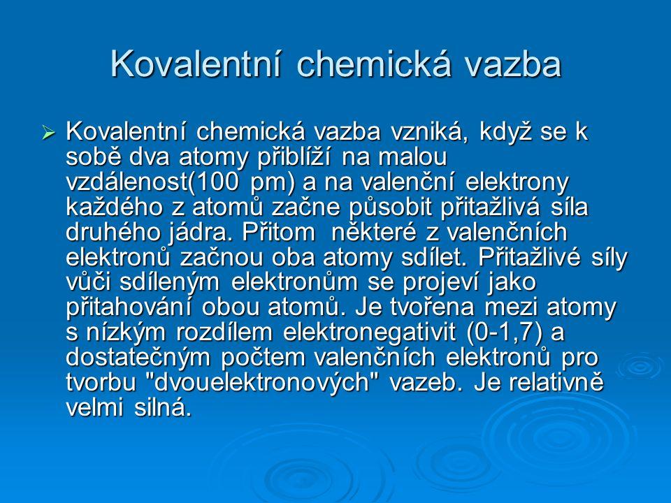 Kovalentní chemická vazba