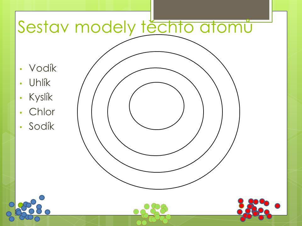 Sestav modely těchto atomů