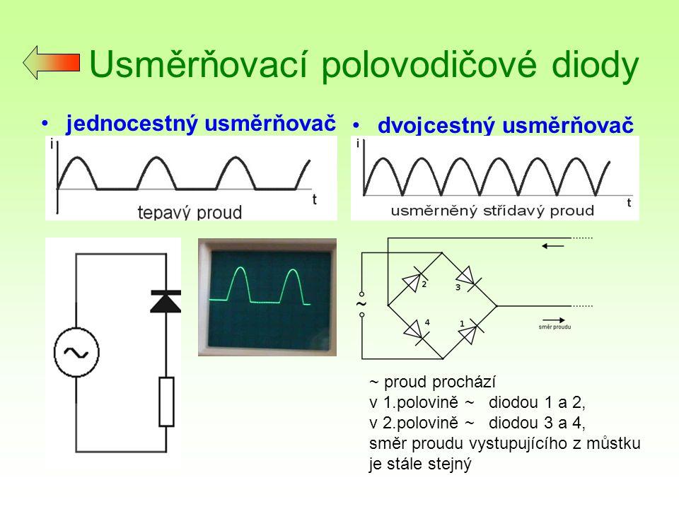 Usměrňovací polovodičové diody