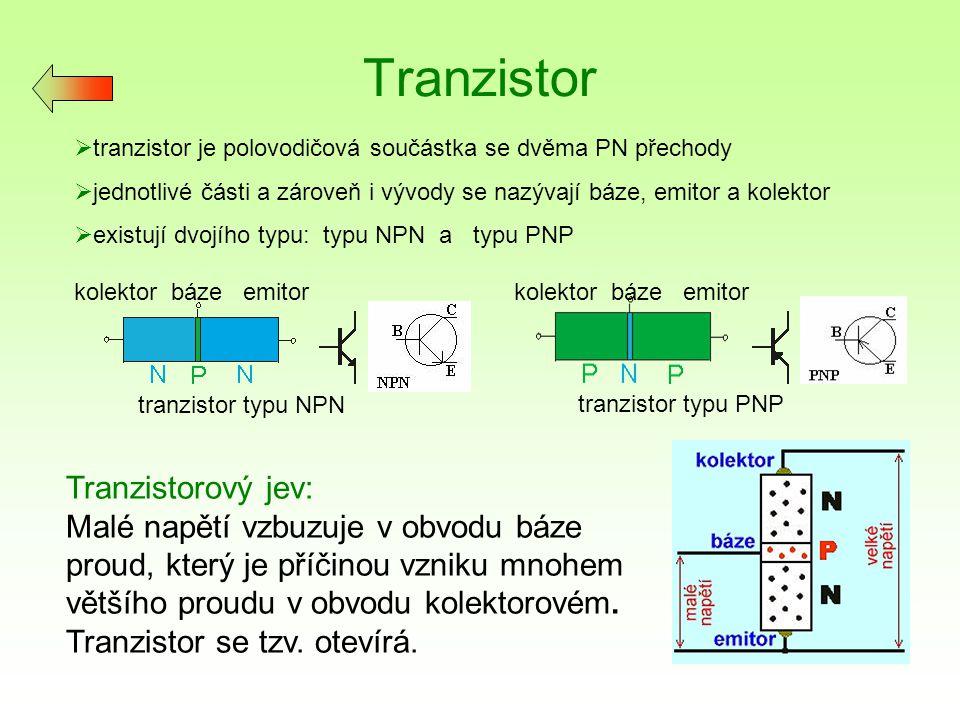 Tranzistor Tranzistorový jev: