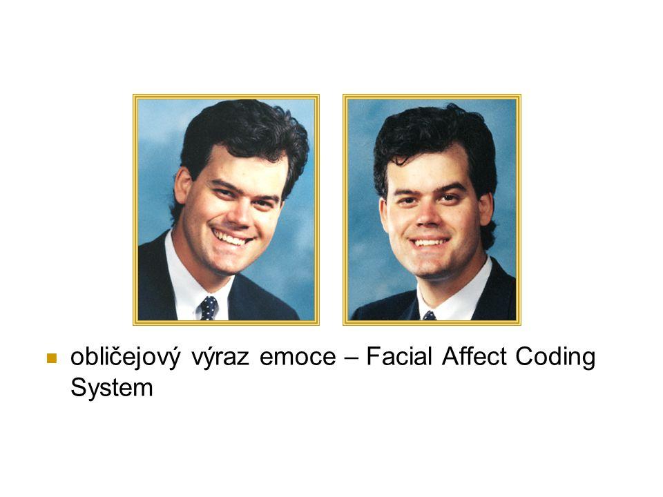 obličejový výraz emoce – Facial Affect Coding System