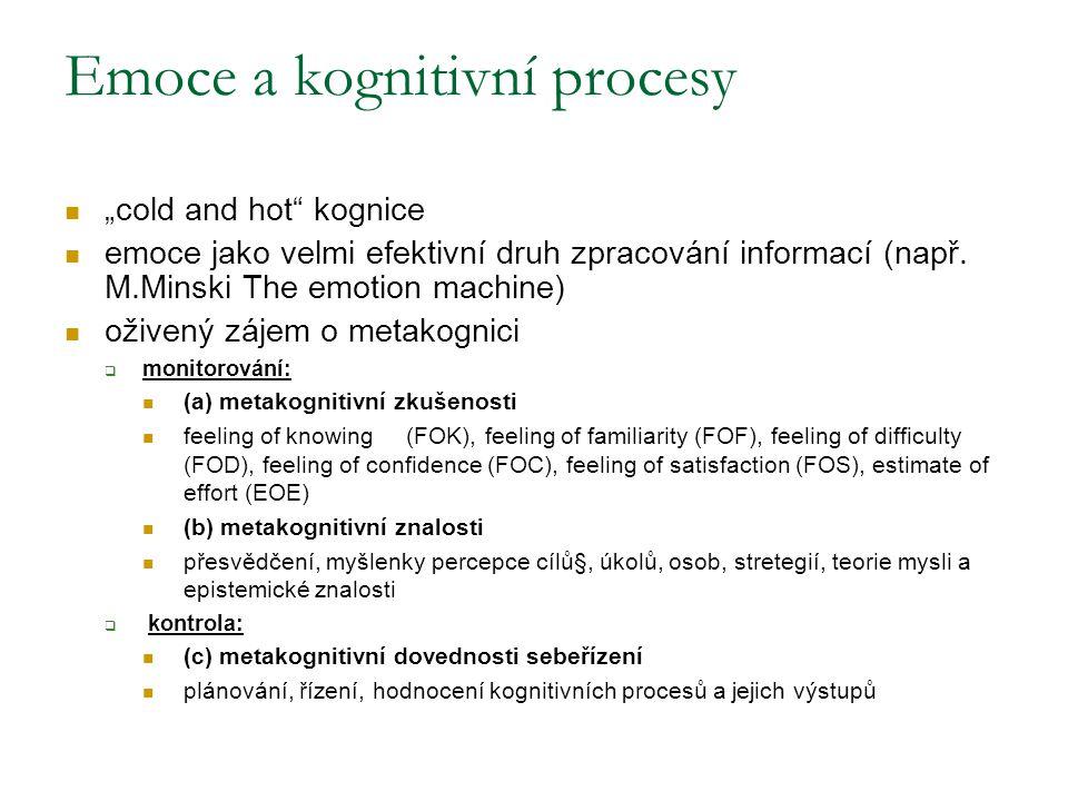 Emoce a kognitivní procesy