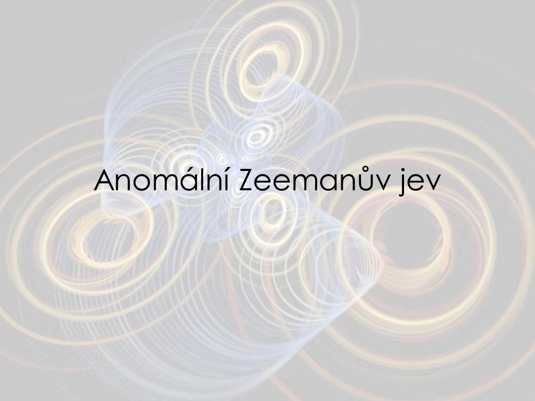 Anomální Zeemanův jev 17
