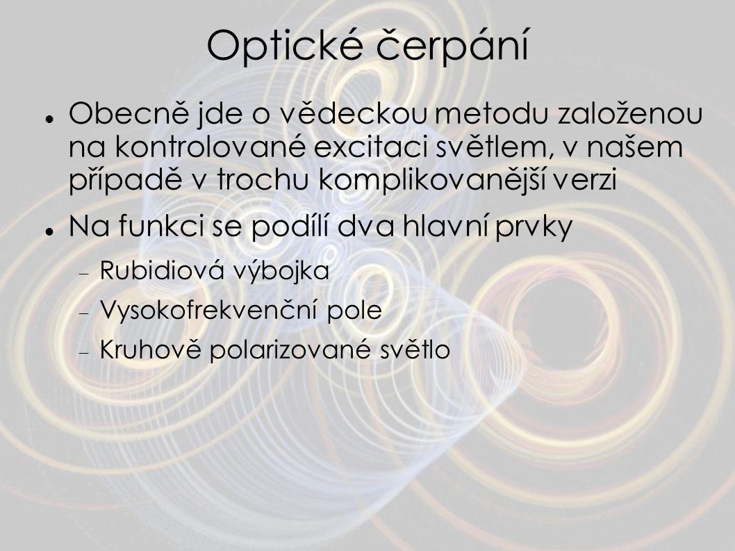 Optické čerpání Obecně jde o vědeckou metodu založenou na kontrolované excitaci světlem, v našem případě v trochu komplikovanější verzi.