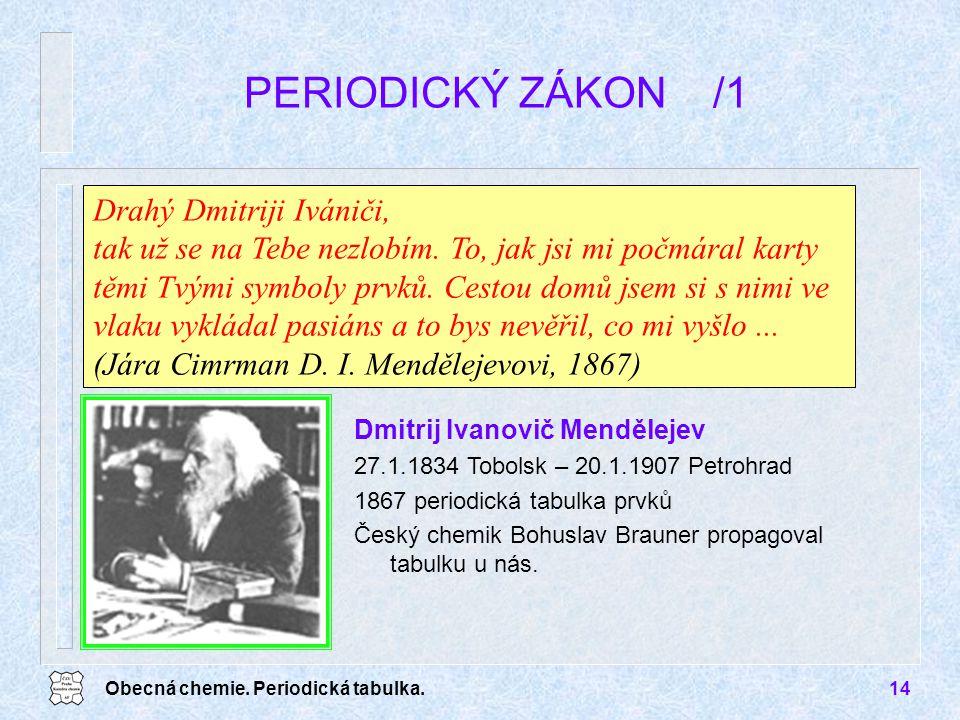 PERIODICKÝ ZÁKON /1