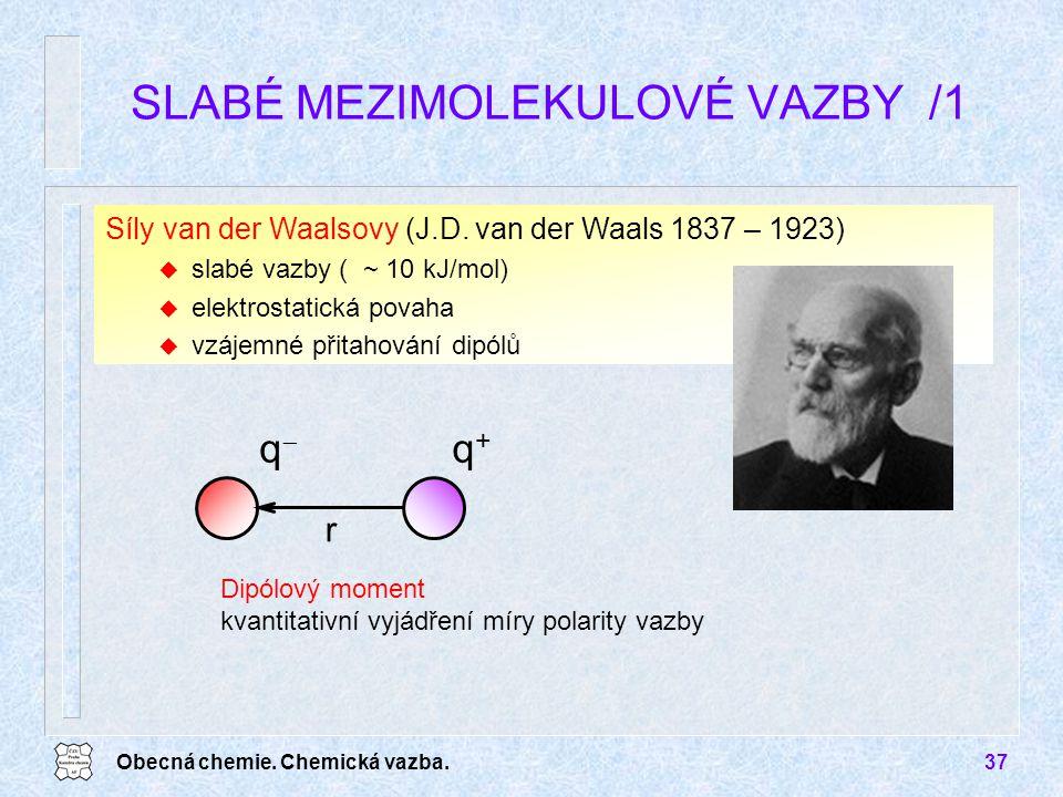 SLABÉ MEZIMOLEKULOVÉ VAZBY /1