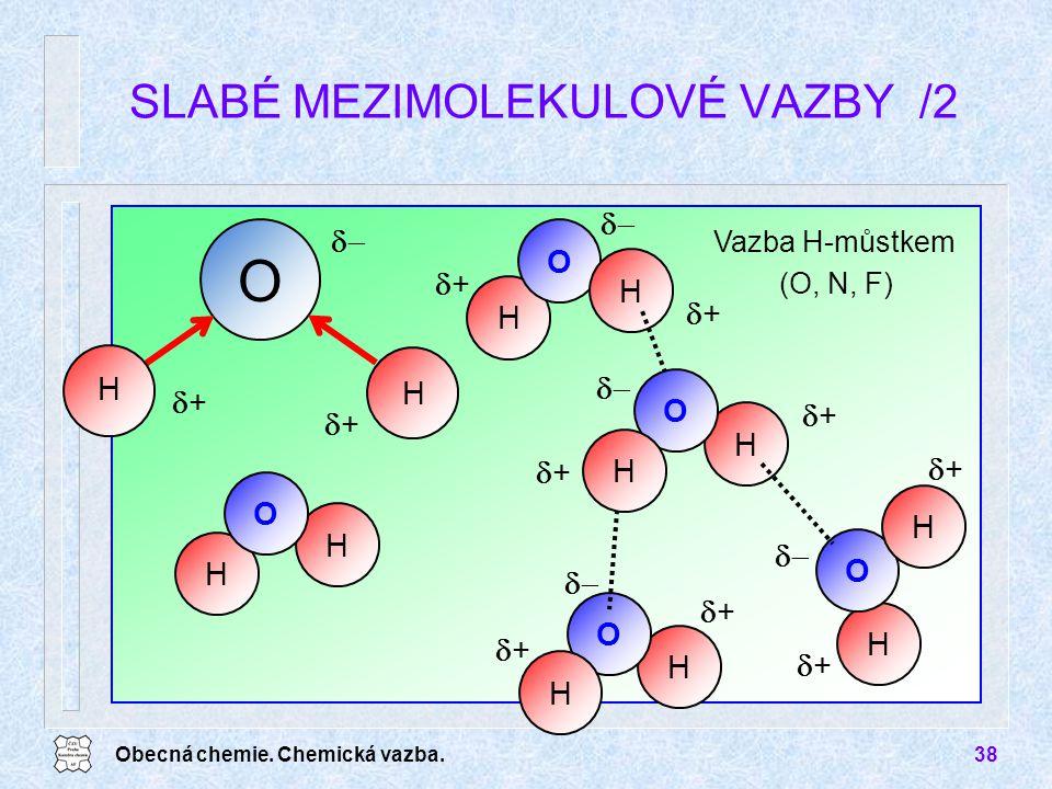 SLABÉ MEZIMOLEKULOVÉ VAZBY /2