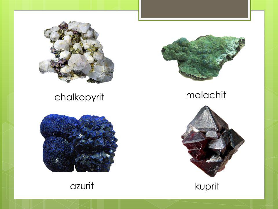 malachit chalkopyrit azurit kuprit