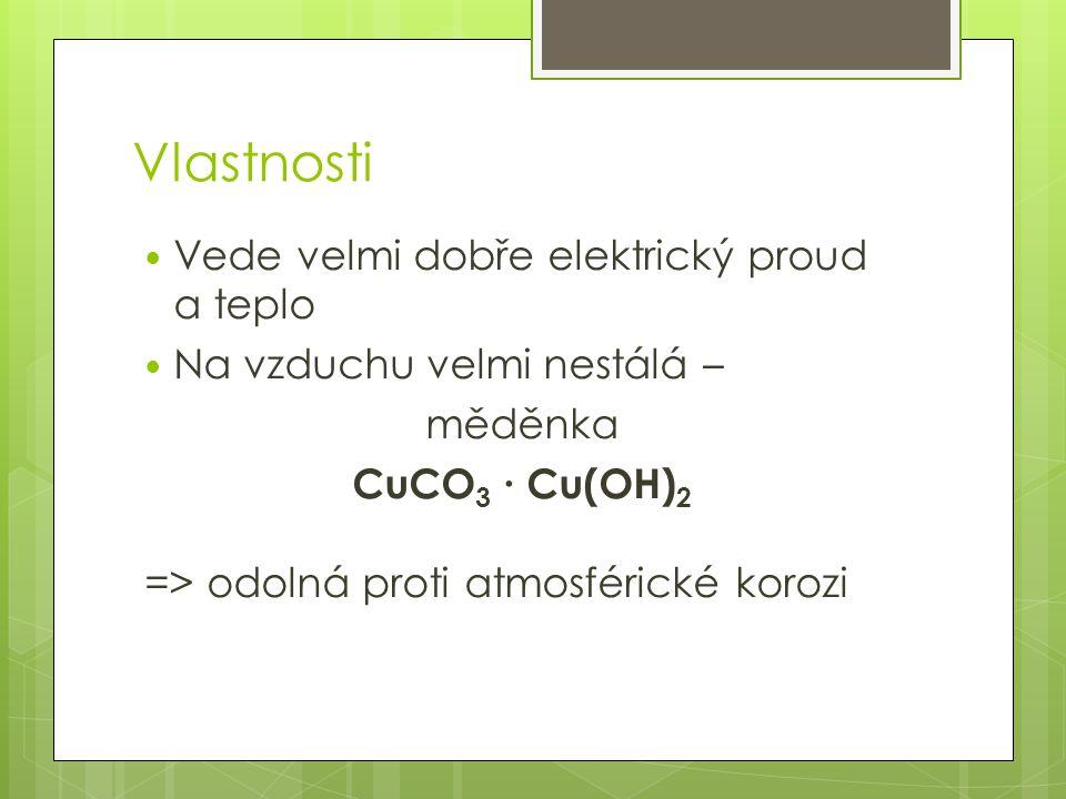 Vlastnosti Vede velmi dobře elektrický proud a teplo