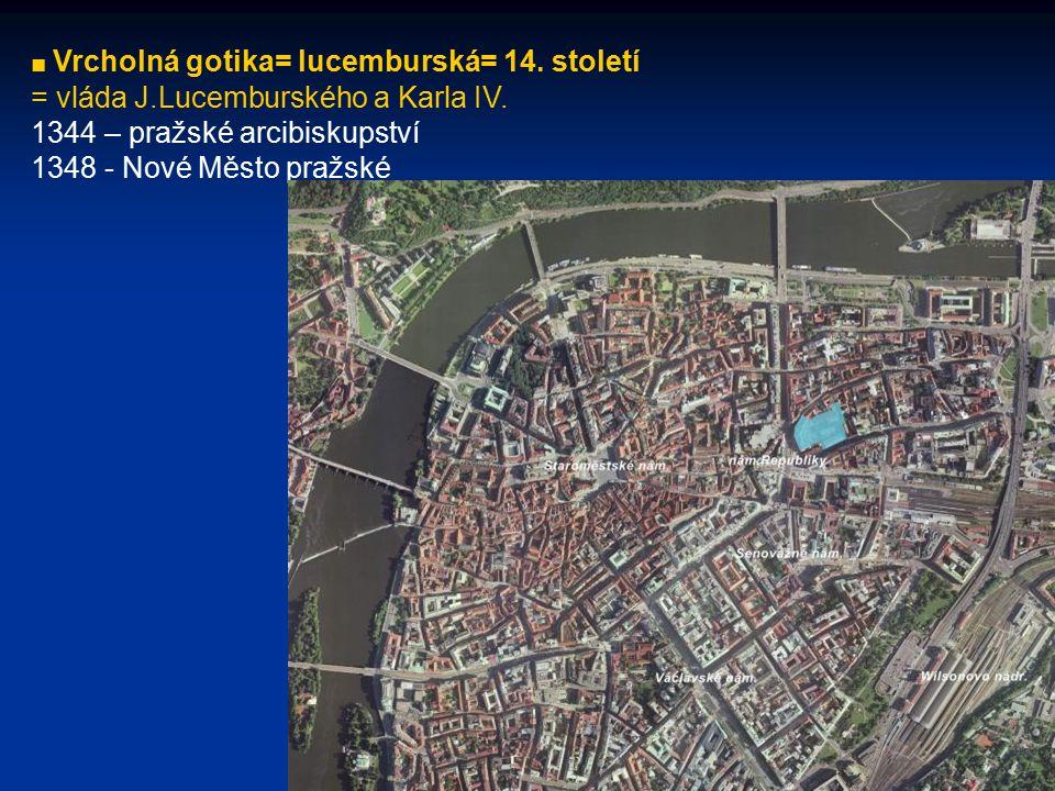 = vláda J.Lucemburského a Karla IV. 1344 – pražské arcibiskupství