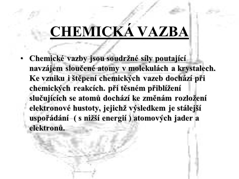 CHEMICKÁ VAZBA