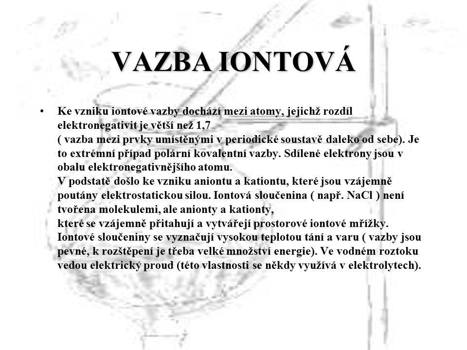 VAZBA IONTOVÁ