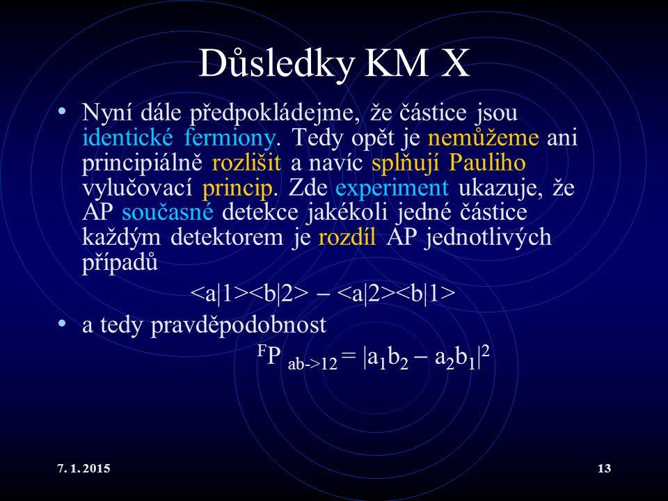 Důsledky KM X