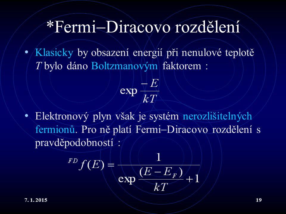 *FermiDiracovo rozdělení