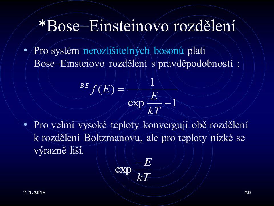 *BoseEinsteinovo rozdělení