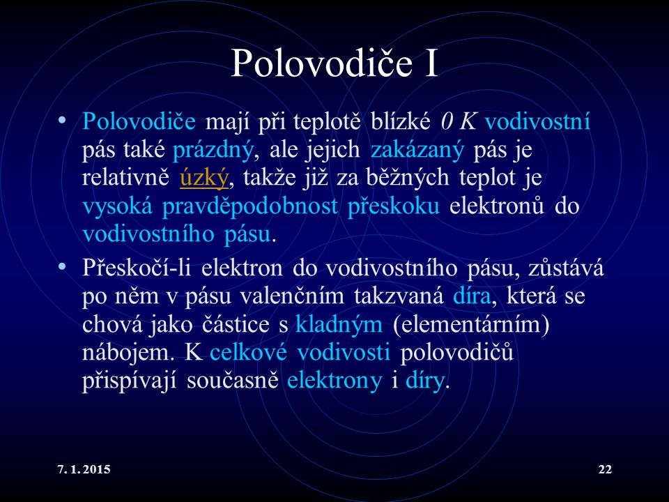 Polovodiče I