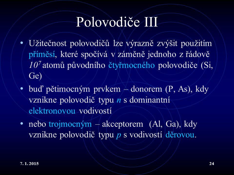 Polovodiče III