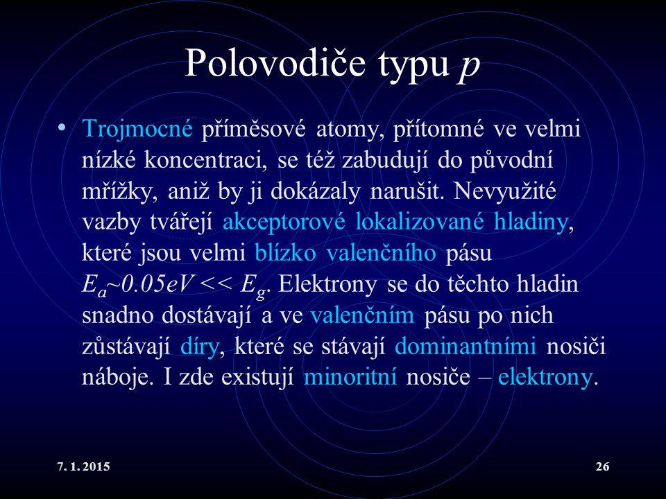 Polovodiče typu p
