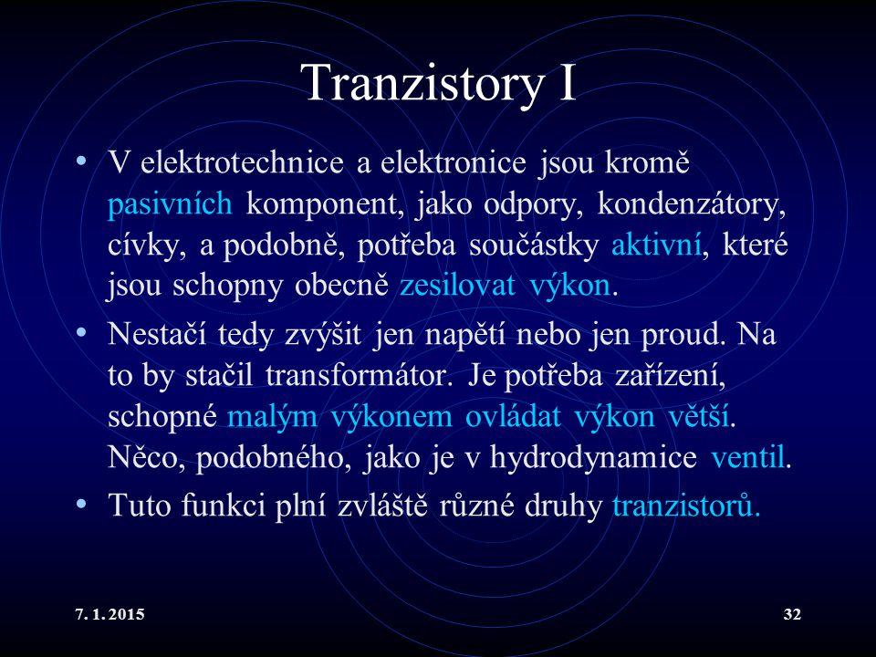 Tranzistory I