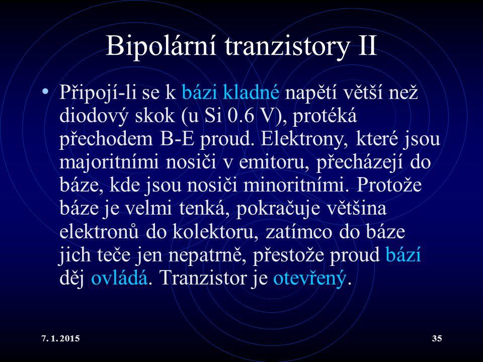 Bipolární tranzistory II