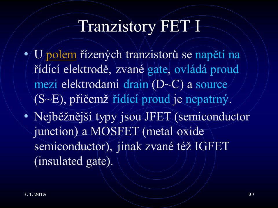 Tranzistory FET I