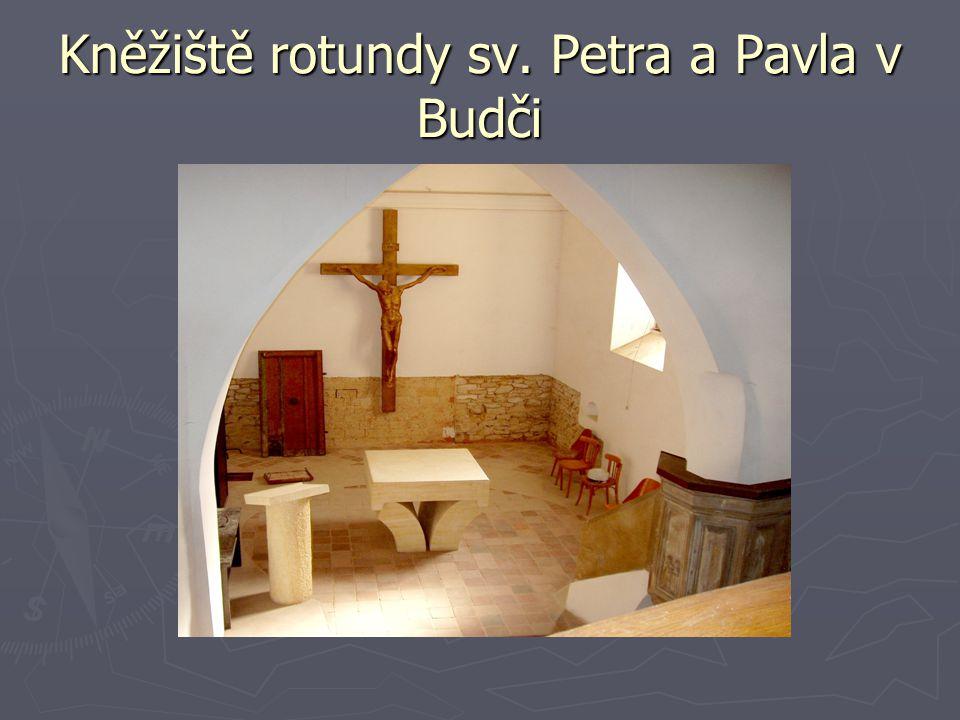 Kněžiště rotundy sv. Petra a Pavla v Budči