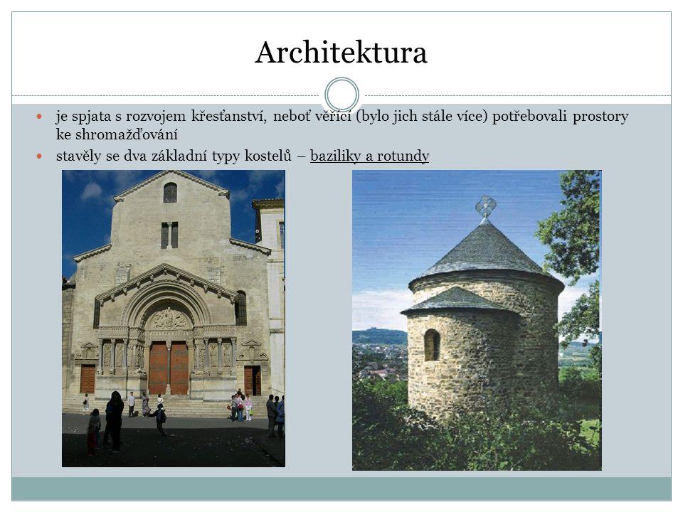 Architektura je spjata s rozvojem křesťanství, neboť věřící (bylo jich stále více) potřebovali prostory ke shromažďování.