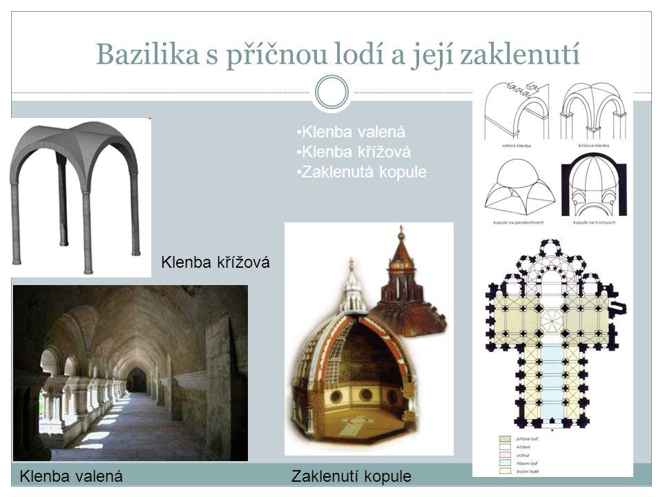 Bazilika s příčnou lodí a její zaklenutí