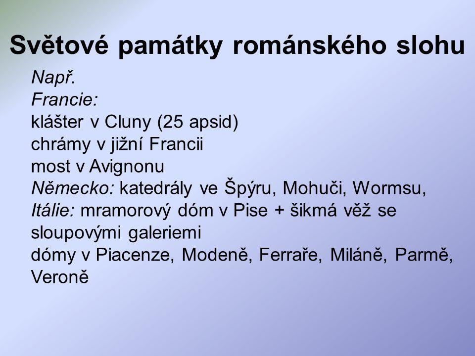 Světové památky románského slohu