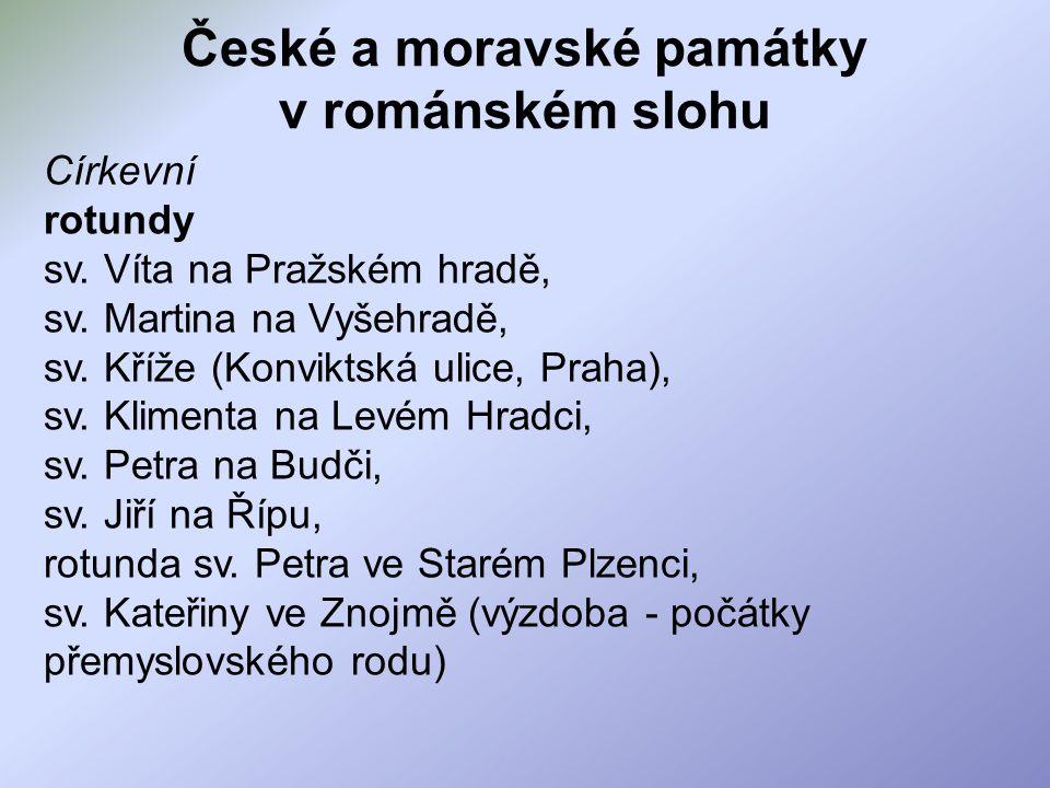 České a moravské památky v románském slohu