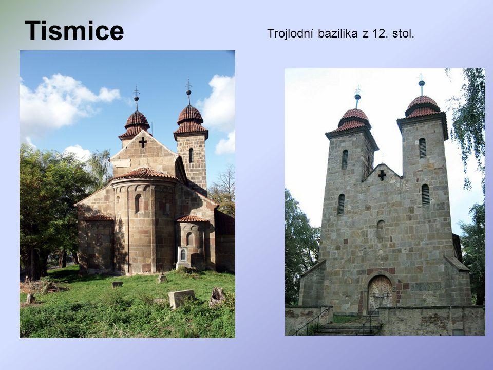 Tismice Trojlodní bazilika z 12. stol.