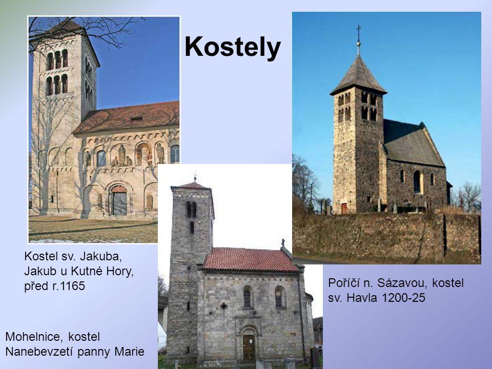 Kostely Kostel sv. Jakuba, Jakub u Kutné Hory, před r.1165