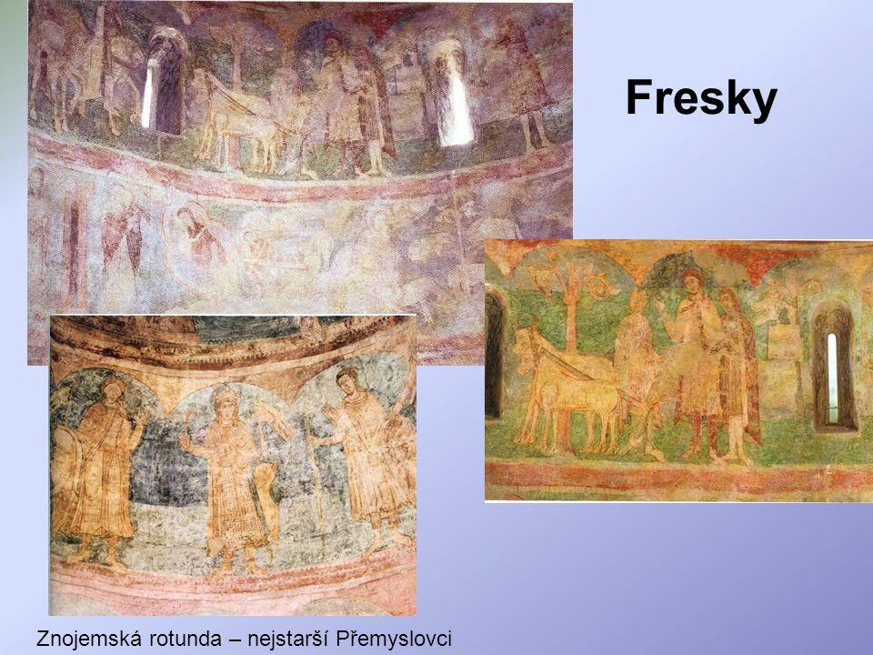 Fresky Znojemská rotunda – nejstarší Přemyslovci