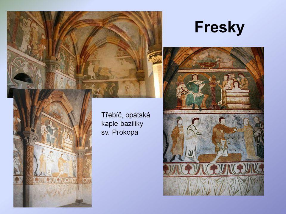 Fresky Třebíč, opatská kaple baziliky sv. Prokopa