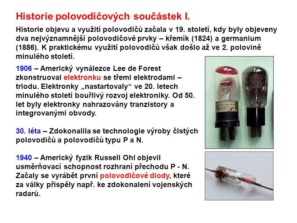 Historie polovodičových součástek I.