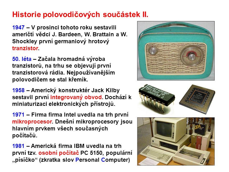 Historie polovodičových součástek II.