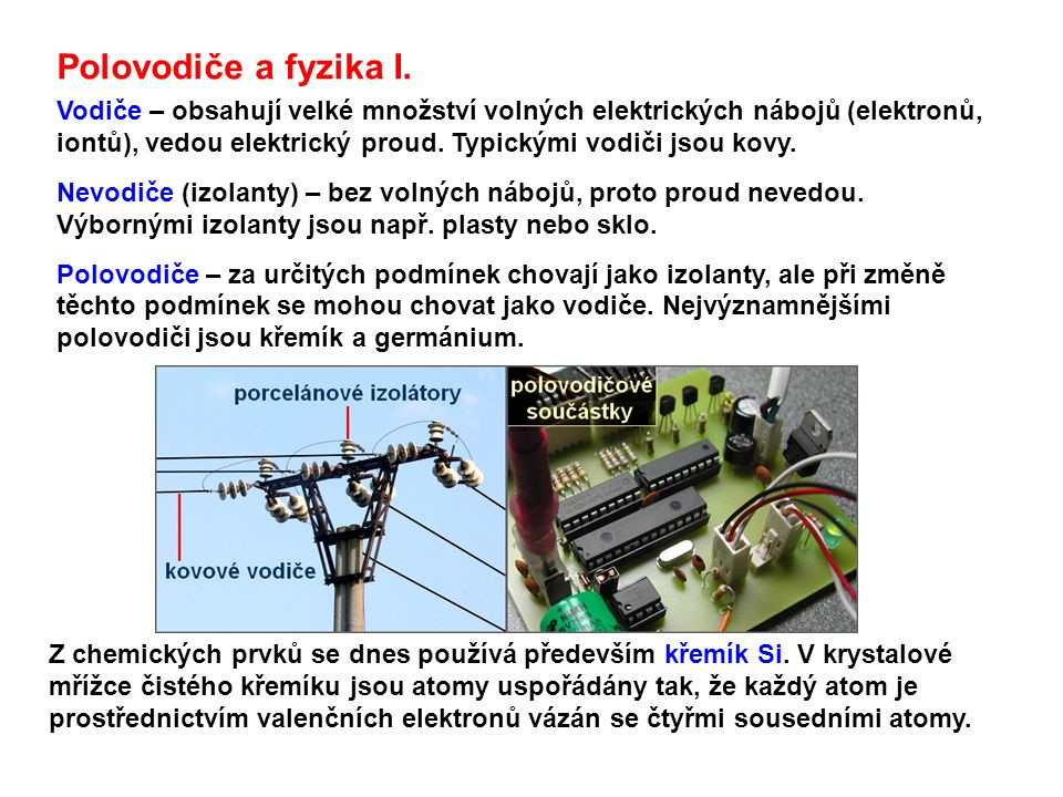 Polovodiče a fyzika I.