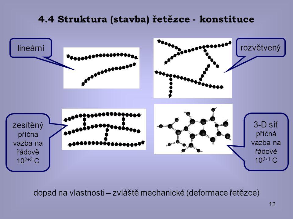 4.4 Struktura (stavba) řetězce - konstituce