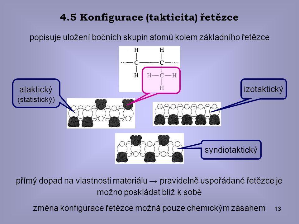 4.5 Konfigurace (takticita) řetězce