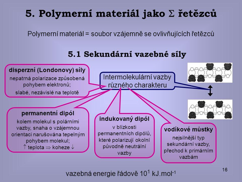 5. Polymerní materiál jako  řetězců