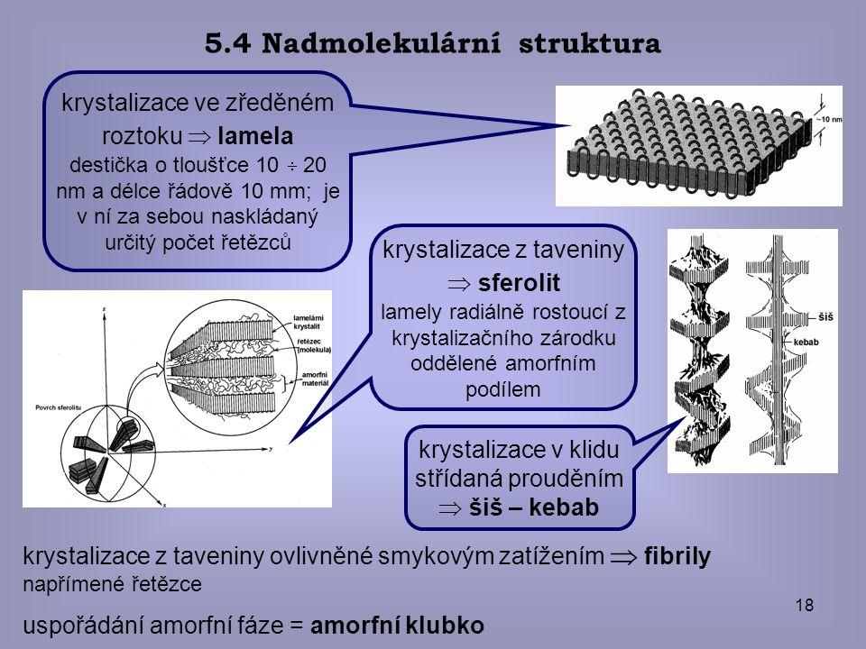 5.4 Nadmolekulární struktura
