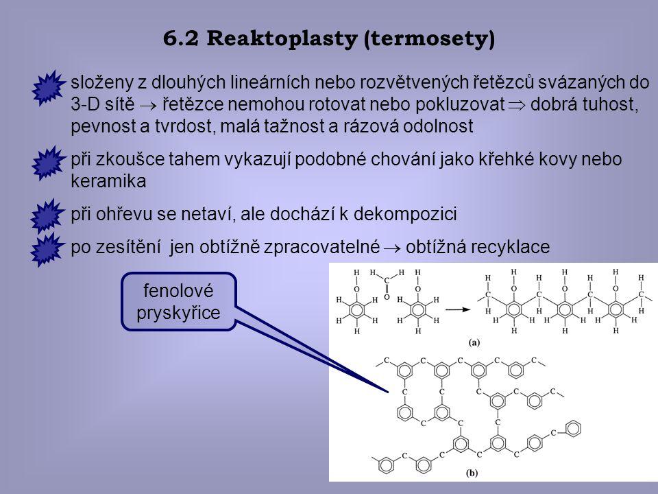 6.2 Reaktoplasty (termosety)