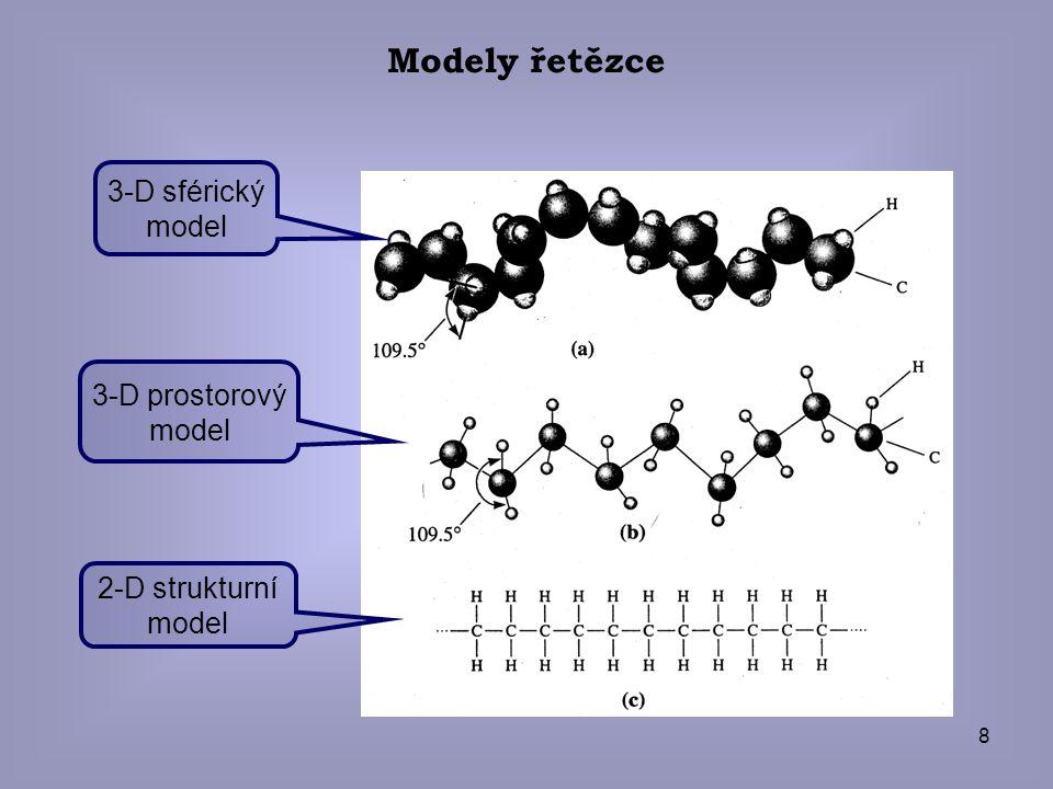 Modely řetězce 3-D sférický model 3-D prostorový model